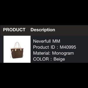 Louis Vuitton Neverfull Monogram